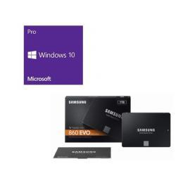 Windows 10 Pro 64Bit DSP + SAMSUNG 860 EVO MZ-76E1T0B/IT バンドルセット