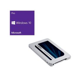 Windows 10 Pro 64Bit DSP + Crucial CT2000MX500SSD1/JP バンドルセット