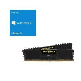 Windows 10 Home 64Bit DSP + Corsair CMK32GX4M2A2666C16 バンドルセット