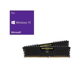Windows 10 Pro 64Bit DSP + Corsair CMK16GX4M2A2666C16 バンドルセット