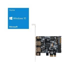 Windows 10 Home 64Bit DSP + 玄人志向 USB3.0RA-P2H2-PCIE バンドルセット