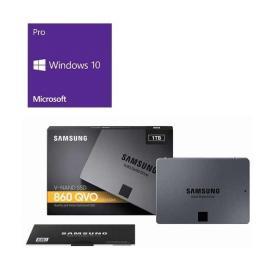 Windows 10 Pro 64Bit DSP + SAMSUNG 860 QVO MZ-76Q1T0B/IT バンドルセット