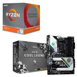 AMD Ryzen 9 3900X BOX + ASRock X570 Steel Legend セット