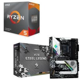 AMD Ryzen 5 3600 BOX + ASRock X570 Steel Legend セット