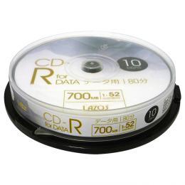 Lazos L-CD10P [CD-R 1-52倍速 10枚入 データ用]