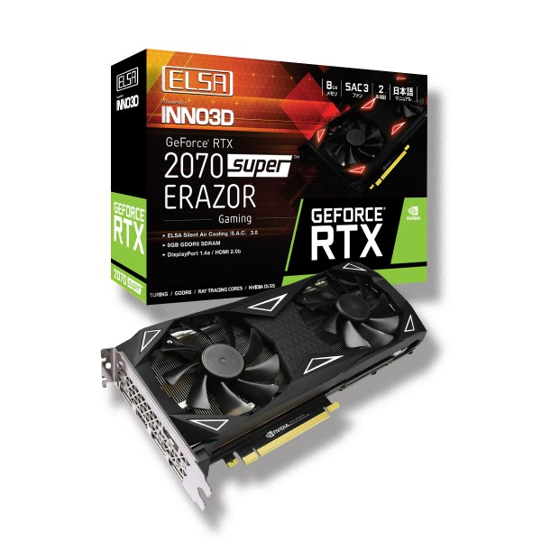 ELSA GeForce RTX 2070 Super ERAZOR GAMING / GD2070-8GERSES