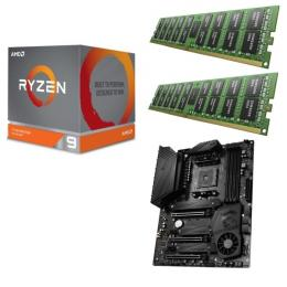 AMD Ryzen 9 3900X + MSI MEG X570 UNIFY + DDR4-3200 8GB×2枚 メモリ 3点セット!