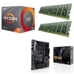 AMD Ryzen 7 3700X + ASUS TUF GAMING X570-PLUS + DDR4-3200 8GB×2枚 メモリ 3点セット!