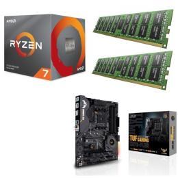 AMD Ryzen 7 3800X + ASUS TUF GAMING X570-PLUS + DDR4-3200 8GB×2枚 メモリ 3点セット!