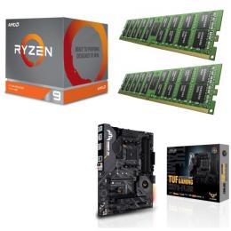 AMD Ryzen 9 3900X + ASUS TUF GAMING X570-PLUS + DDR4-3200 8GB×2枚 メモリ 3点セット!
