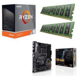 AMD Ryzen 9 3950X + ASUS TUF GAMING X570-PLUS + DDR4-3200 8GB×2枚 メモリ 3点セット!