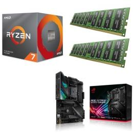 AMD Ryzen 7 3800X + ASUS ROG STRIX X570-F GAMING + DDR4-3200 8GB×2枚 メモリ 3点セット!