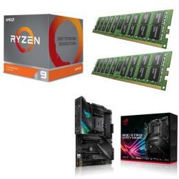 AMD Ryzen 9 3900X + ASUS ROG STRIX X570-F GAMING + DDR4-3200 8GB×2枚 メモリ 3点セット!