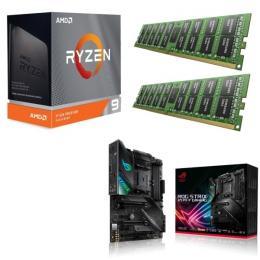 AMD Ryzen 9 3950X + ASUS ROG STRIX X570-F GAMING + DDR4-3200 8GB×2枚 メモリ 3点セット!