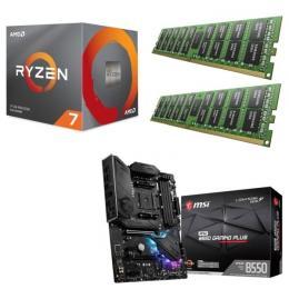 AMD Ryzen 7 3700X + MSI MPG B550 GAMING PLUS + DDR4-3200 8GB×2枚 メモリ 3点セット!