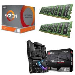 AMD Ryzen 9 3900X + MSI MPG B550 GAMING PLUS + DDR4-3200 8GB×2枚 メモリ 3点セット!