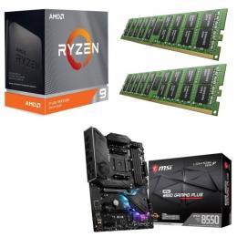 AMD Ryzen 9 3950X + MSI MPG B550 GAMING PLUS + DDR4-3200 8GB×2枚 メモリ 3点セット!