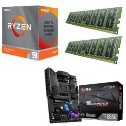 AMD Ryzen 9 3900XT + MSI MPG B550 GAMING PLUS + DDR4-3200 8GB×2枚 メモリ 3点セット!