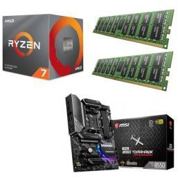 AMD Ryzen 7 3700X + MSI MAG B550 TOMAHAWK + DDR4-3200 8GB×2枚 メモリ 3点セット!