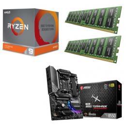 AMD Ryzen 9 3900X + MSI MAG B550 TOMAHAWK + DDR4-3200 8GB×2枚 メモリ 3点セット!