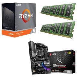 AMD Ryzen 9 3950X + MSI MAG B550 TOMAHAWK + DDR4-3200 8GB×2枚組メモリ 3点セット!