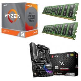 AMD Ryzen 9 3900XT + MSI MAG B550 TOMAHAWK + DDR4-3200 8GB×2枚 メモリ 3点セット!