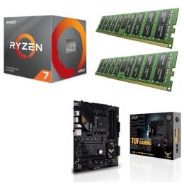 AMD Ryzen 7 3700X + ASUS TUF GAMING B550-PLUS + DDR4-3200 8GB×2枚 メモリ 3点セット!