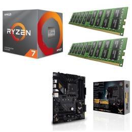 AMD Ryzen 7 3800X + ASUS TUF GAMING B550-PLUS + DDR4-3200 8GB×2枚 メモリ 3点セット!