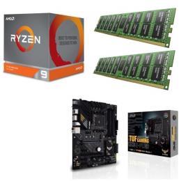 AMD Ryzen 9 3900X + ASUS TUF GAMING B550-PLUS + DDR4-3200 8GB×2枚 メモリ 3点セット!