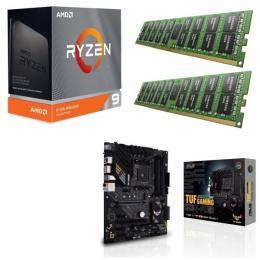 AMD Ryzen 9 3950X + ASUS TUF GAMING B550-PLUS + DDR4-3200 8GB×2枚 メモリ 3点セット!