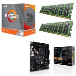 AMD Ryzen 9 3900XT + ASUS TUF GAMING B550-PLUS + DDR4-3200 8GB×2枚 メモリ 3点セット!
