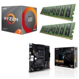 AMD Ryzen 7 3700X + ASUS TUF GAMING B550M-PLUS + DDR4-3200 8GB×2枚 メモリ 3点セット!
