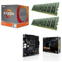 AMD Ryzen 9 3900X + ASUS TUF GAMING B550M-PLUS + DDR4-3200 8GB×2枚 メモリ 3点セット!