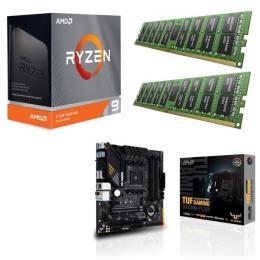 AMD Ryzen 9 3950X + ASUS TUF GAMING B550M-PLUS + DDR4-3200 8GB×2枚 メモリ 3点セット!