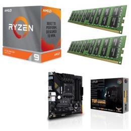 AMD Ryzen 9 3900XT + ASUS TUF GAMING B550M-PLUS + DDR4-3200 8GB×2枚 メモリ 3点セット!