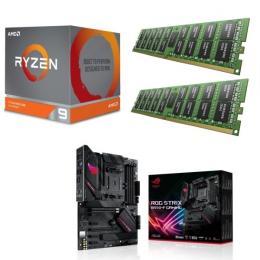 AMD Ryzen 9 3900X + ASUS ROG STRIX B550-F GAMING + DDR4-3200 8GB×2枚 メモリ 3点セット!