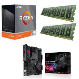 AMD Ryzen 9 3950X + ASUS ROG STRIX B550-F GAMING + DDR4-3200 8GB×2枚 メモリ 3点セット!