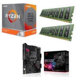 AMD Ryzen 9 3900XT + ASUS ROG STRIX B550-F GAMING + DDR4-3200 8GB×2枚 メモリ 3点セット!