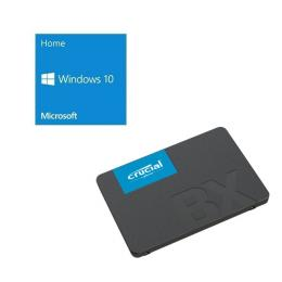Windows 10 Home 64Bit DSP + Crucial BX500 CT120BX500SSD1JP バンドルセット