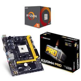 AMD Ryzen 5 1600+BIOSTAR A320MH PRO セット