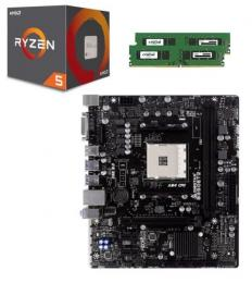 AMD Ryzen 5 1500X + DDR4-2400 8GBx2枚 + BIOSTAR B350ET2 セット