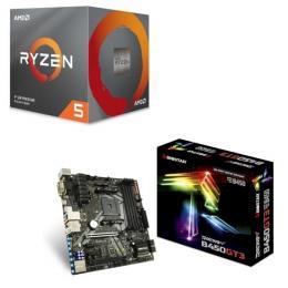 AMD Ryzen 5 3600X BOX + BIOSTAR B450GT3セット