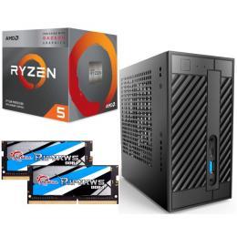 AMD Ryzen 5 3400G + DeskMini A300 + メモリ 16GB×2枚 3点セット