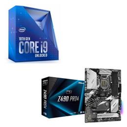 Intel Core i9 10900K BOX + ASRock Z490 Pro4 セット