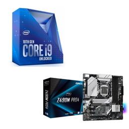 Intel Core i9 10900K BOX + ASRock Z490M Pro4 セット