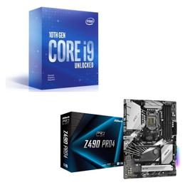Intel Core i9 10900KF BOX + ASRock Z490 Pro4 セット