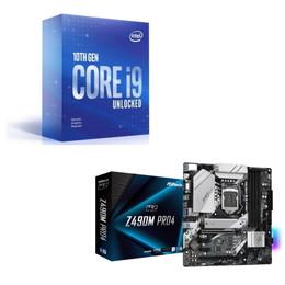 Intel Core i9 10900KF BOX + ASRock Z490M Pro4 セット