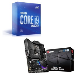 Intel Core i9 10900KF BOX + MSI MPG Z490 GAMING PLUS セット