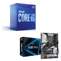 Intel Core i9 10900 BOX + ASRock Z490 Pro4 セット