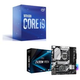 Intel Core i9 10900 BOX + ASRock Z490M Pro4 セット